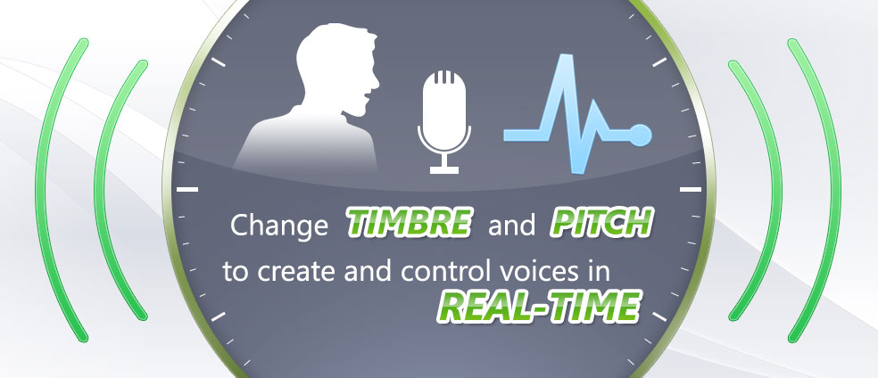 AV Voice Changer Software Diamond 7.0 lets user change timbre and pitch level in real-time