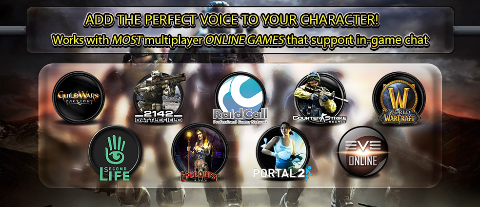 AV Voice Changer Software Diamond 7.0 work with most in-game voice chat systems