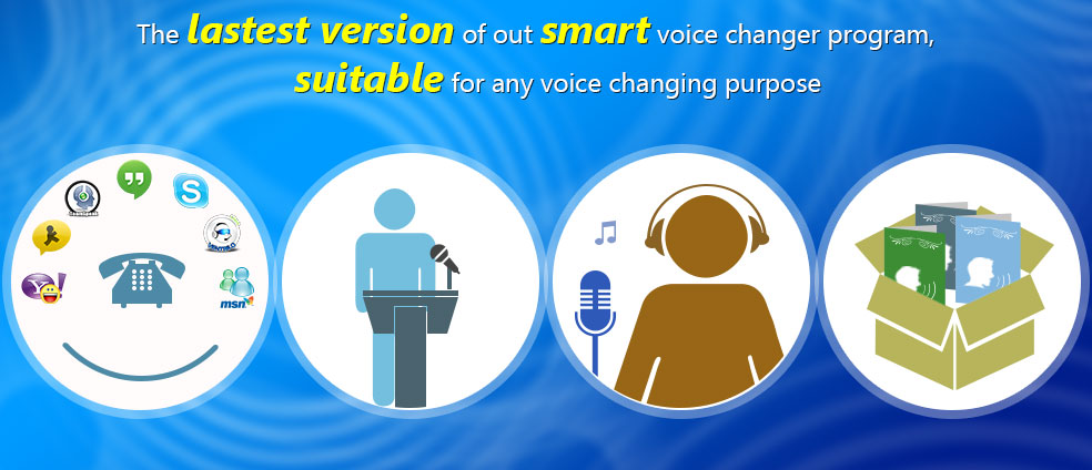 Voice Changer Diamond is suitable for all online and offline voice changing purposes