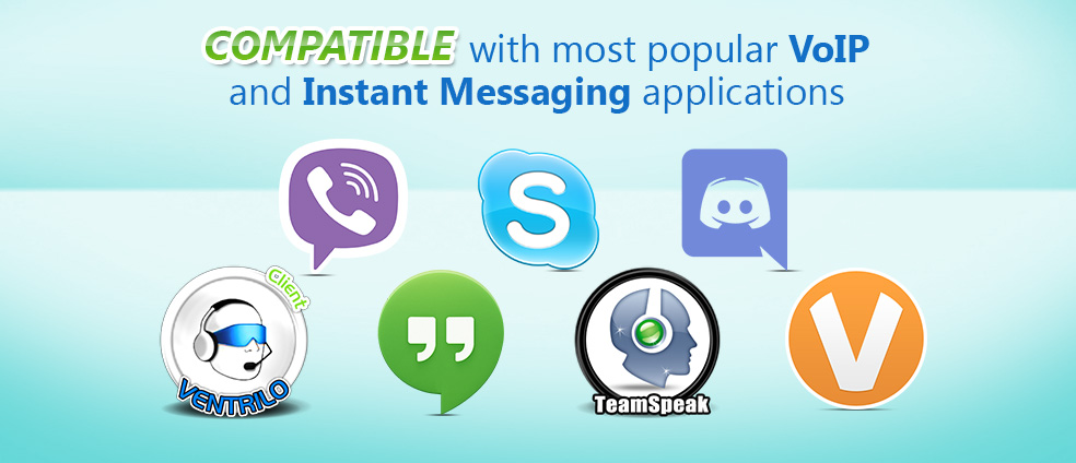 Voice Changer Diamond works well with popular instant messenger applications