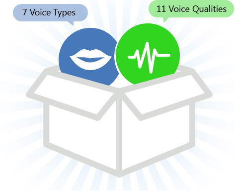 Powerful five combination for natural voice