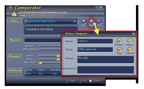 Import Little Boy voice sample into Voice Changer