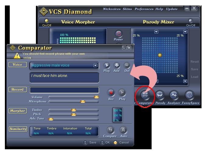 Open Voice Changer Voice Comparator